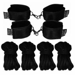 Soft-Bond-X-Fessel-Set 8 (cuff-set black)